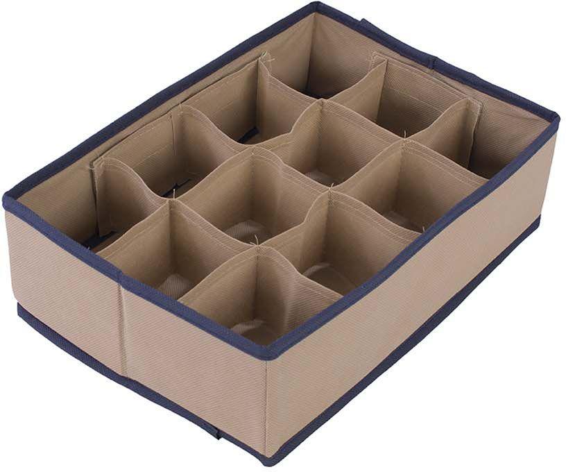 Organizer do szuflady beżowy 32 x 22 x 9 - Beżowy