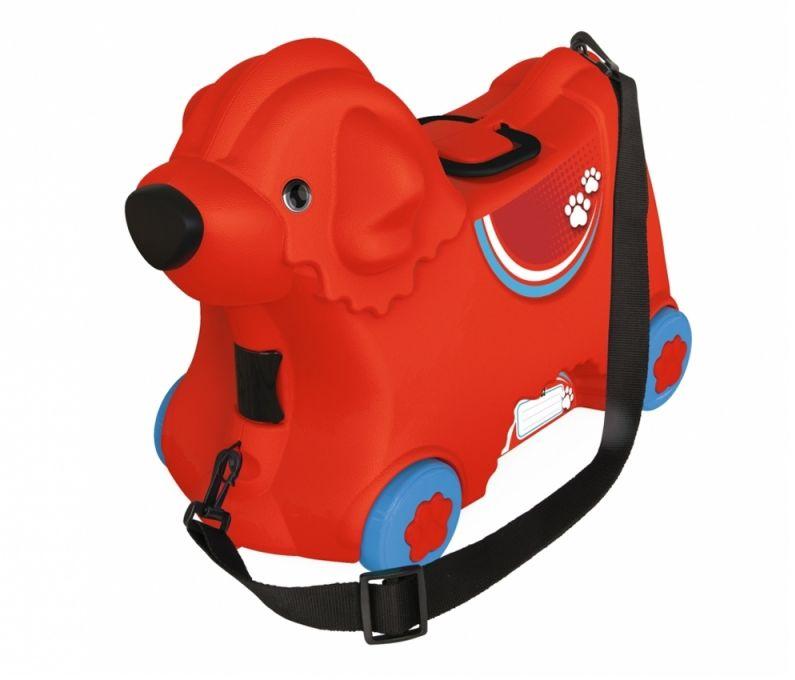 BIG Jeżdżąca walizka Jeździk Bobby Trolley Czerwona LK