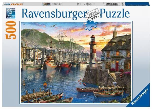 Ravensburger - Puzzle Poranek w porcie 500 el. 150458