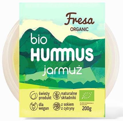 Hummus z jarmużem bio 200 g - fresa organic