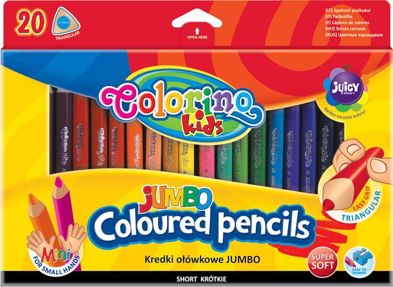 Kredki ołówkowe JUMBO dla najmłodszych 20 kolorów