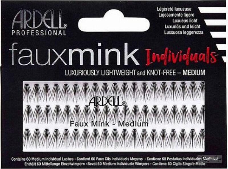 ARDELL - Faux Mink Individuals - Sztuczne rzęsy w kępkach - MEDIUM BLACK