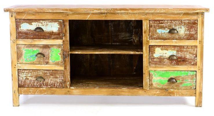 Komoda DIVERO wykonana z drewna łodzi