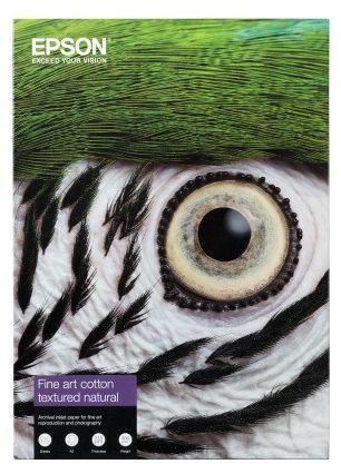 Papier EPSON Fine Art Cotton Textured Natural 300 g/m  - A2 / 25 arkuszy (C13S450283)