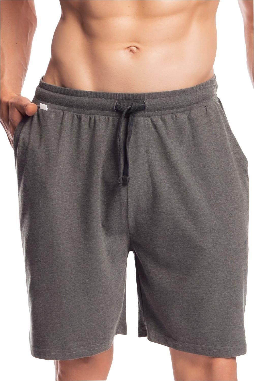 Męskie spodnie do piżamy Atlantic krótkie NMB 039 jasno szare
