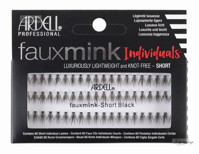 ARDELL - Faux Mink Individuals - Sztuczne rzęsy w kępkach - SHORT BLACK