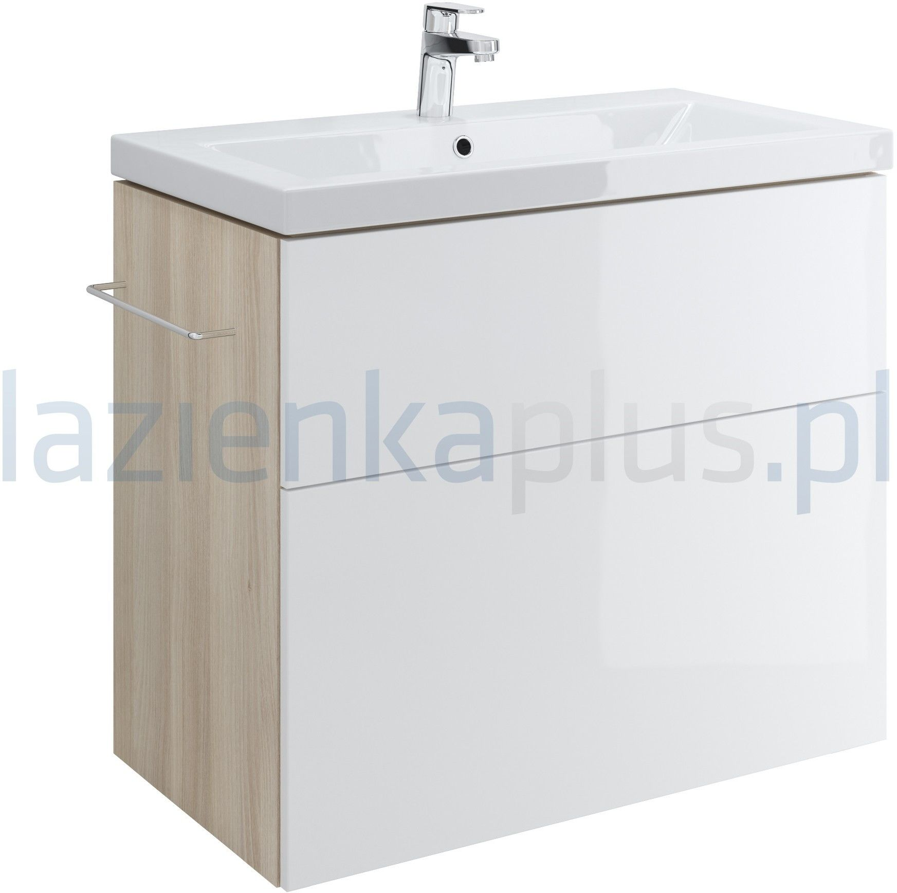 Cersanit Smart 80 cm Szafka pod umywalkę Como biały front S568-020