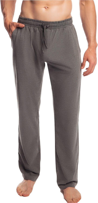 Męskie spodnie do piżamy Atlantic długie NMB 040 jasne szare