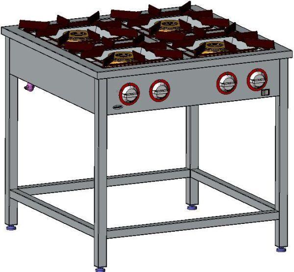 Kuchnia gastronomiczna gazowa 4-palnikowa EGAZ TG-424.II