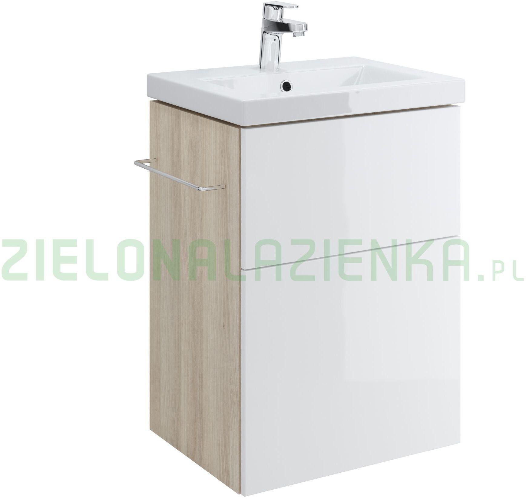 Cersanit Smart 50 cm Szafka pod umywalkę Como biały front S568-016