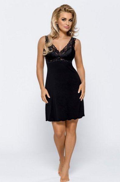 Nipplex bona czarna damska koszula nocna