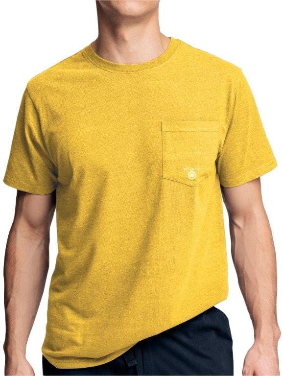 Męska koszulka do piżamy krótki rękaw Atlantic NMT 033 żółta