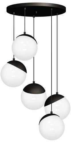 Lampa wisząca SFERA BLACK 5xE14