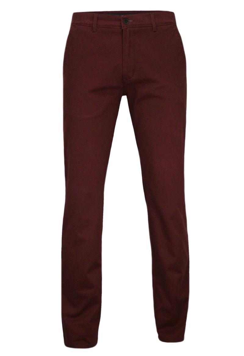 Eleganckie, Męskie Spodnie PIONEER, typu Chinos, Bawełniane, Bordowe SPPION16ROBERT2485BORDO
