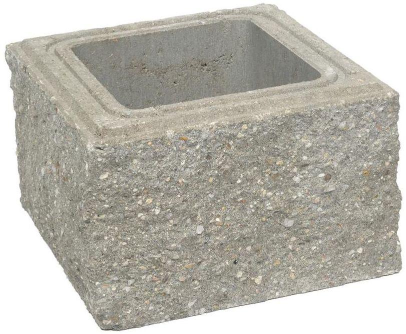 Pustak słupkowy 30 x 30 x 19 cm betonowy czterostronnie łupany SKAŁA LUBUSKA ZIEL-BRUK