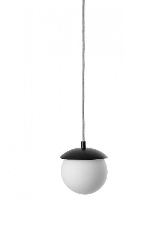 Lampa wisząca pojedyncza Kuul F KLF121B0 oprawa wisząca nowoczesna czarno-biała UMMO
