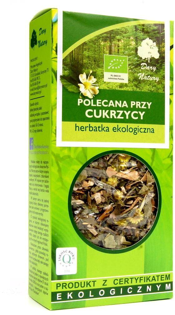 Herbatka Polecana przy Cukrzycy BIO 50g - Dary Natury