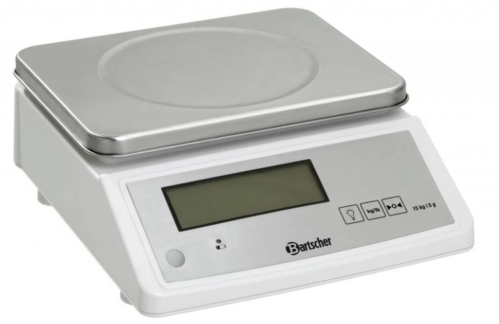 Bartscher Waga kuchenna elektroniczna - pomiar wagi do 15 kg - podziałka 5 g - kod A300117