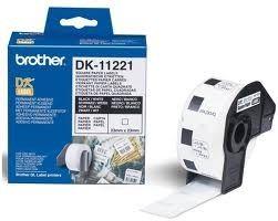Brother DK-11221 białe etykiety papierowe 23 x 23 mm 1000 szt, oryginalne