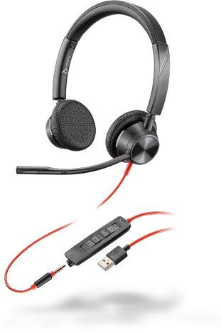 POLY 3325 Zestaw słuchawkowy Opaska na głowę Złącze 3,5 mm USB