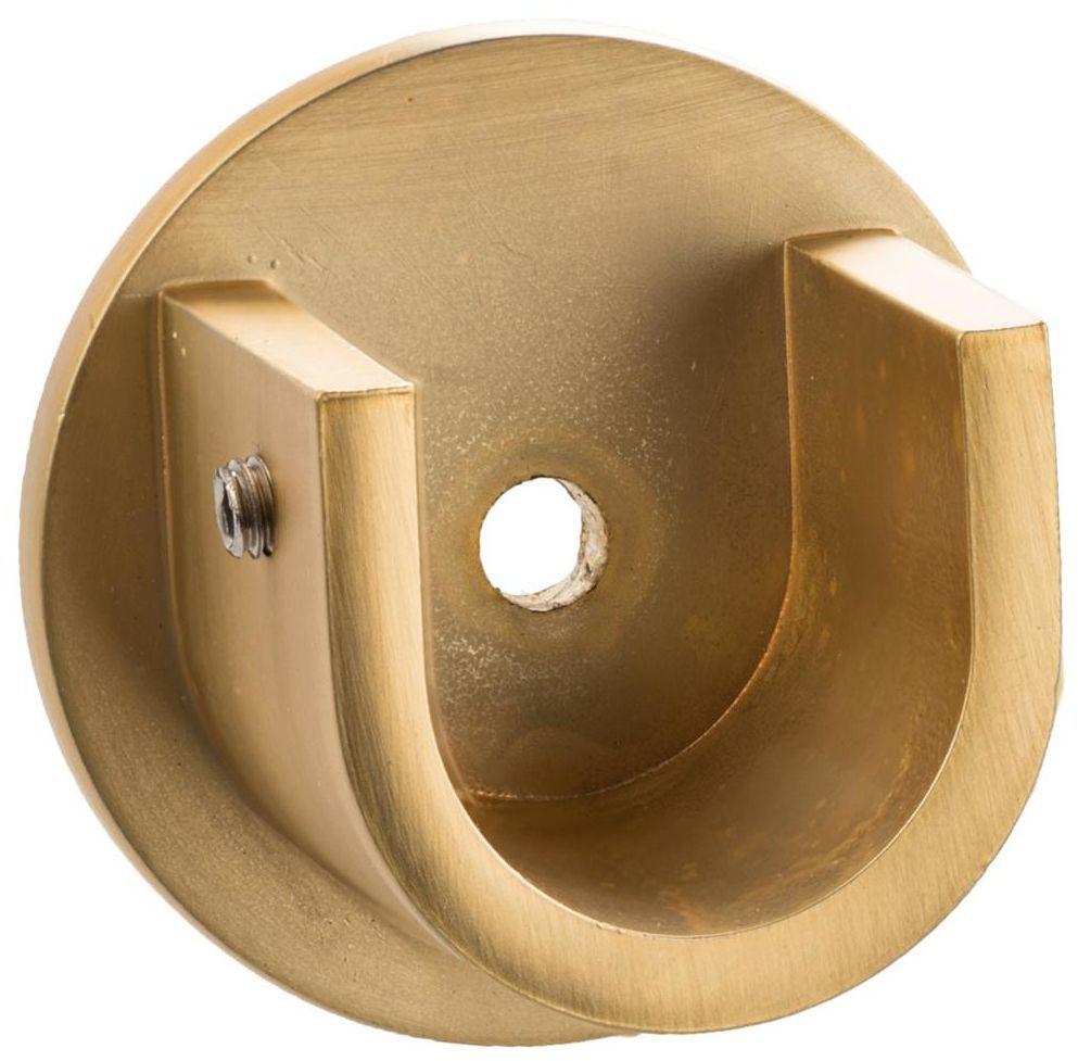 Wspornik do karnisza 19 mm międzyścienny mosiądz mat INSPIRE