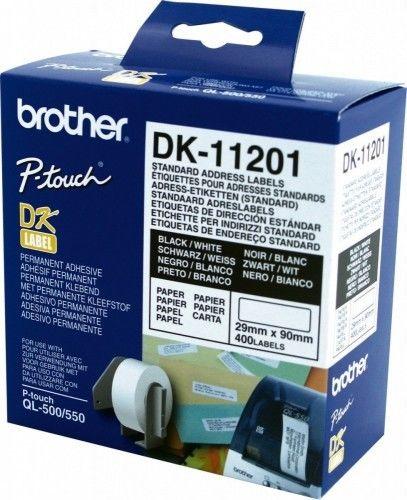 Brother DK-11201 białe etykiety papierowe 400 szt, oryginalne