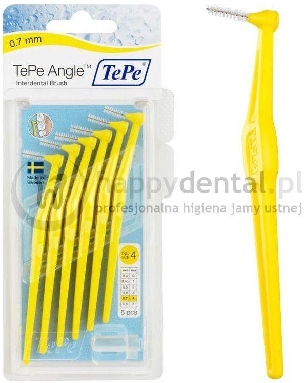 TEPE ID Angle (0.7mm) żółte 6szt. - zestaw szczoteczek międzyzębowych (szczoteczki w wersji ANGLE)