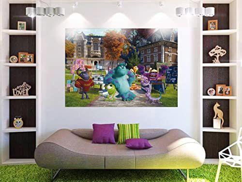 """AG Design """"Monsters University Disney"""" fototapeta do pokoju dziecięcego, wielokolorowa, 160 x 115 cm"""