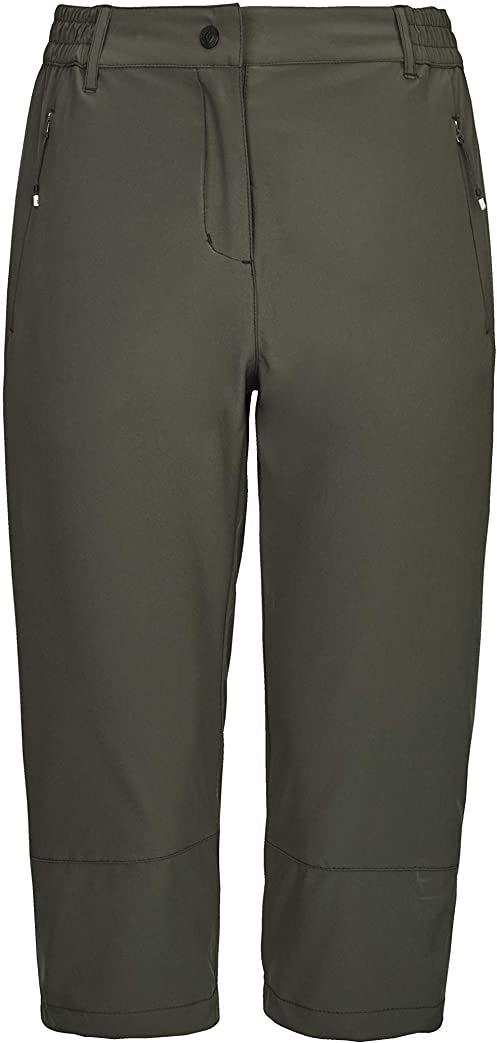 Killtec Damskie szorty Terasi - spodnie Capri - bermudy damskie - krótkie spodnie są odporne na działanie wody zielony zielony antracytowy 34
