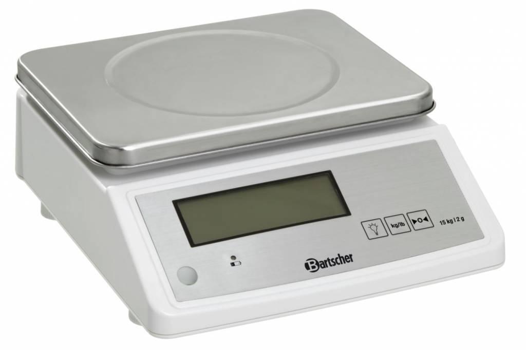 Bartscher Waga kuchenna elektroniczna - pomiar wagi do 15 kg - podziałka 2 g - kod A300118