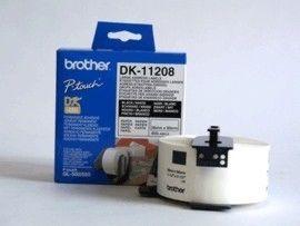 Brother DK-11208 białe etykiety papierowe 90 x 38 mm 400 szt, oryginalne