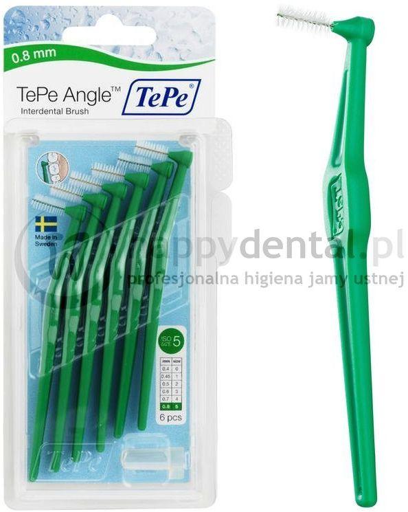 TEPE ID Angle (0.8mm) zielone 6szt. - zestaw szczoteczek międzyzębowych (szczoteczki w wersji ANGLE)