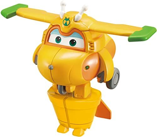 Super Wings EU740073 Bots 5 cm transformująca figura krzyżowa, żółta