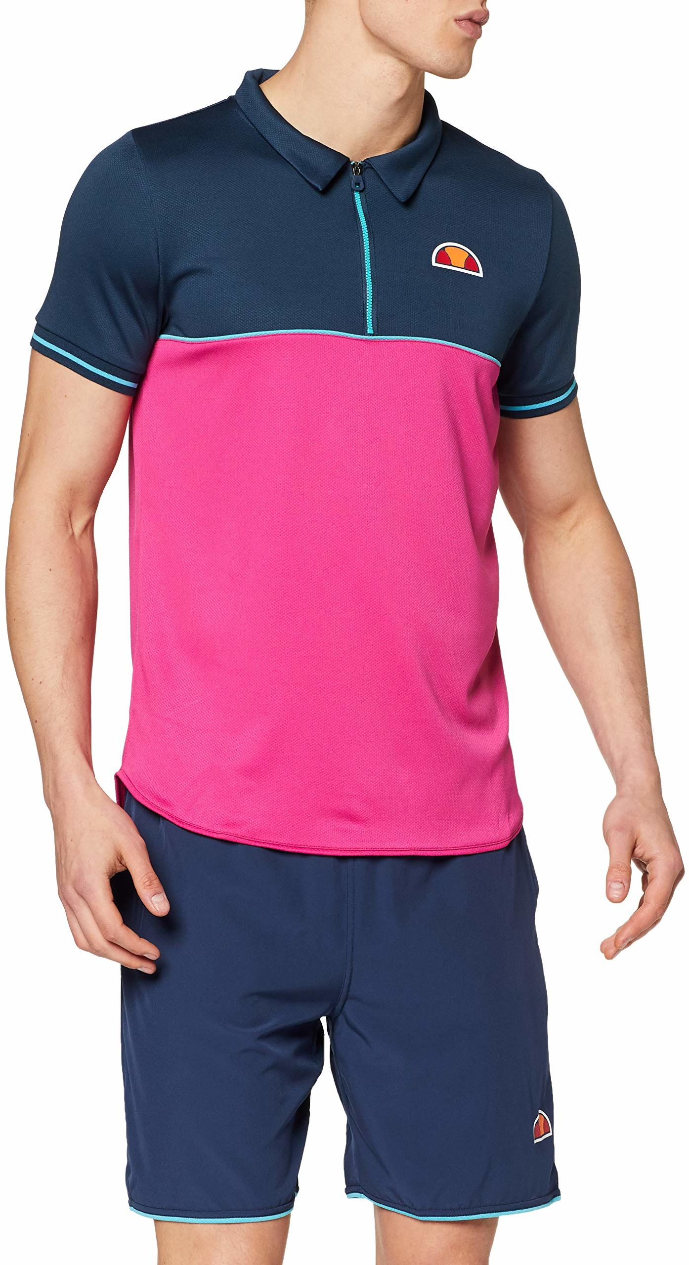 ellesse męska koszulka polo Wesley Granatowy/różowy S