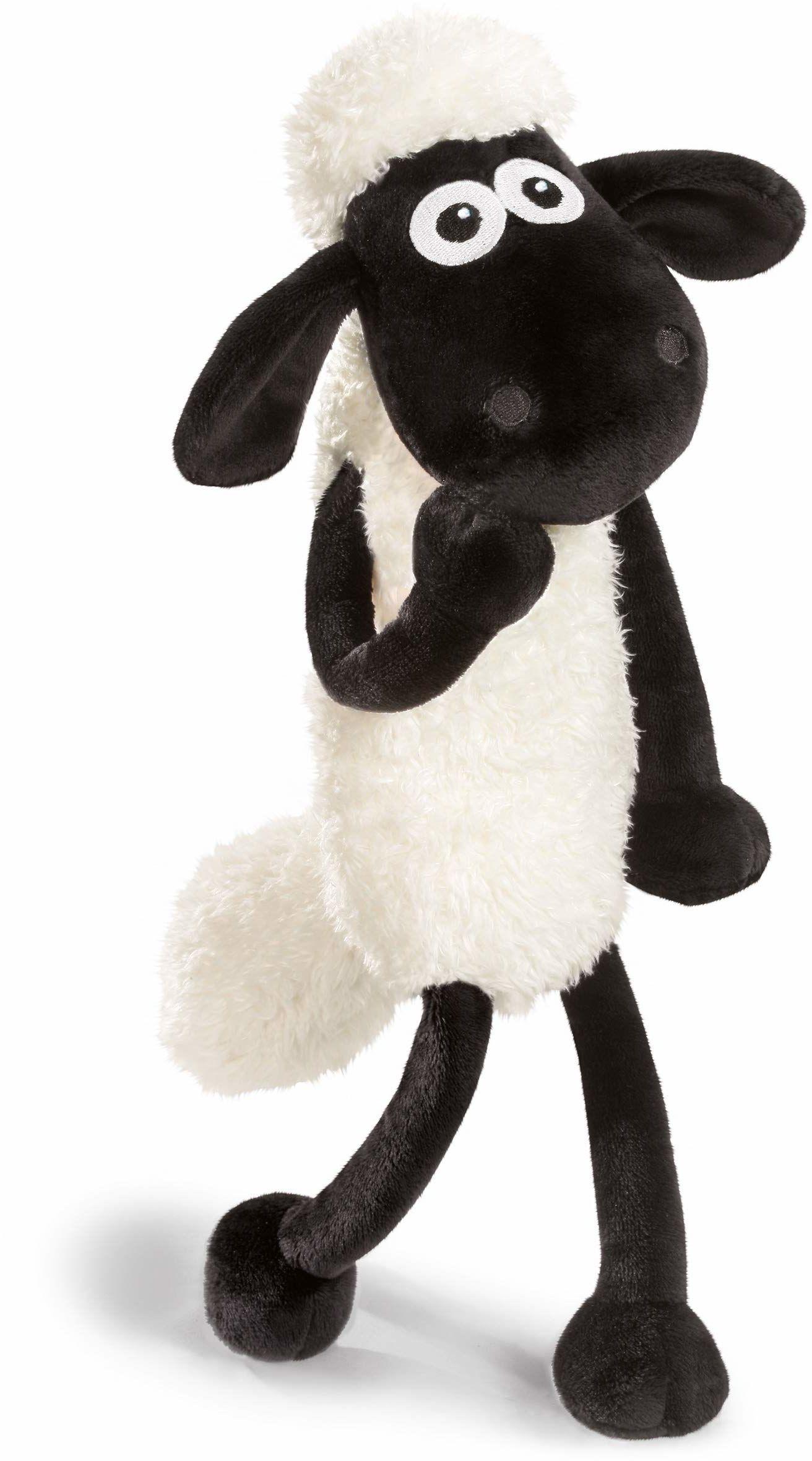 NICI Maskotka Shaun owca 35 cm  owieczka pluszowa dla dziewcząt, chłopców i niemowląt  puszysta pluszowa owieczka do przytulania, zabawy i spania  przytulna przytulanka dla każdego wieku  45846