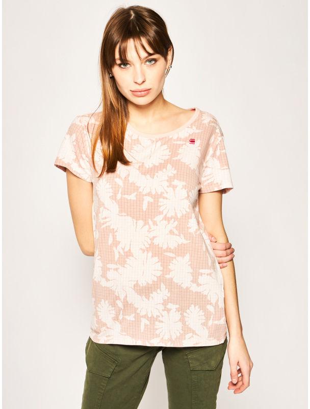 G-Star Raw T-Shirt Gyre Wmn D16268-C224-B343 Różowy Regular Fit