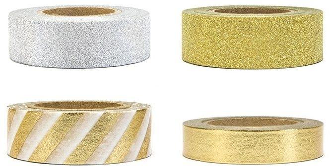 Tasiemki dekoracyjne Washi Tape 4szt 10m DTP2