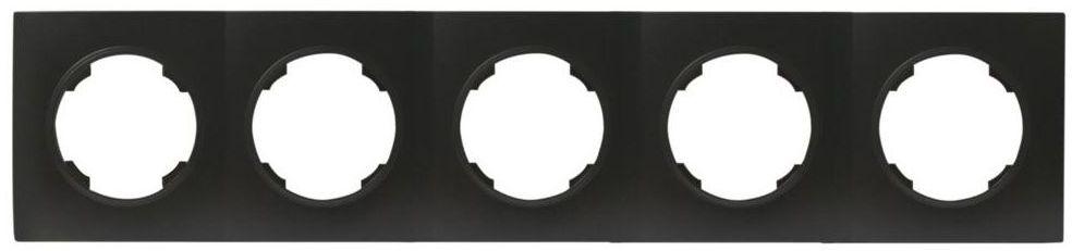 Ramka pięciokrotna SOUL czarny DMP SOLID