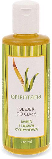 Orientana Naturalny olejek do ciała z imbirem i trawą cytrynową 210 ml