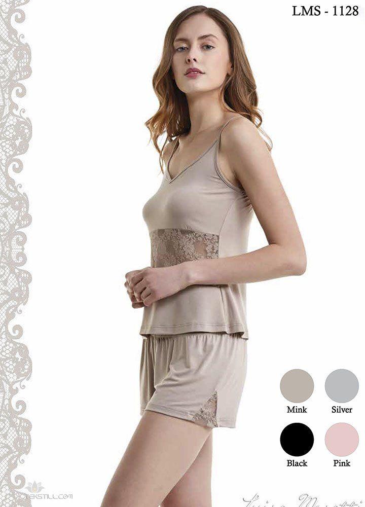 Damska bambusowa piżama SOFIA Beżowy XL