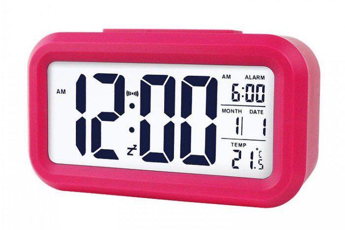 Budzik Xonix GHY-510 Pink z termometrem, Sensor Light