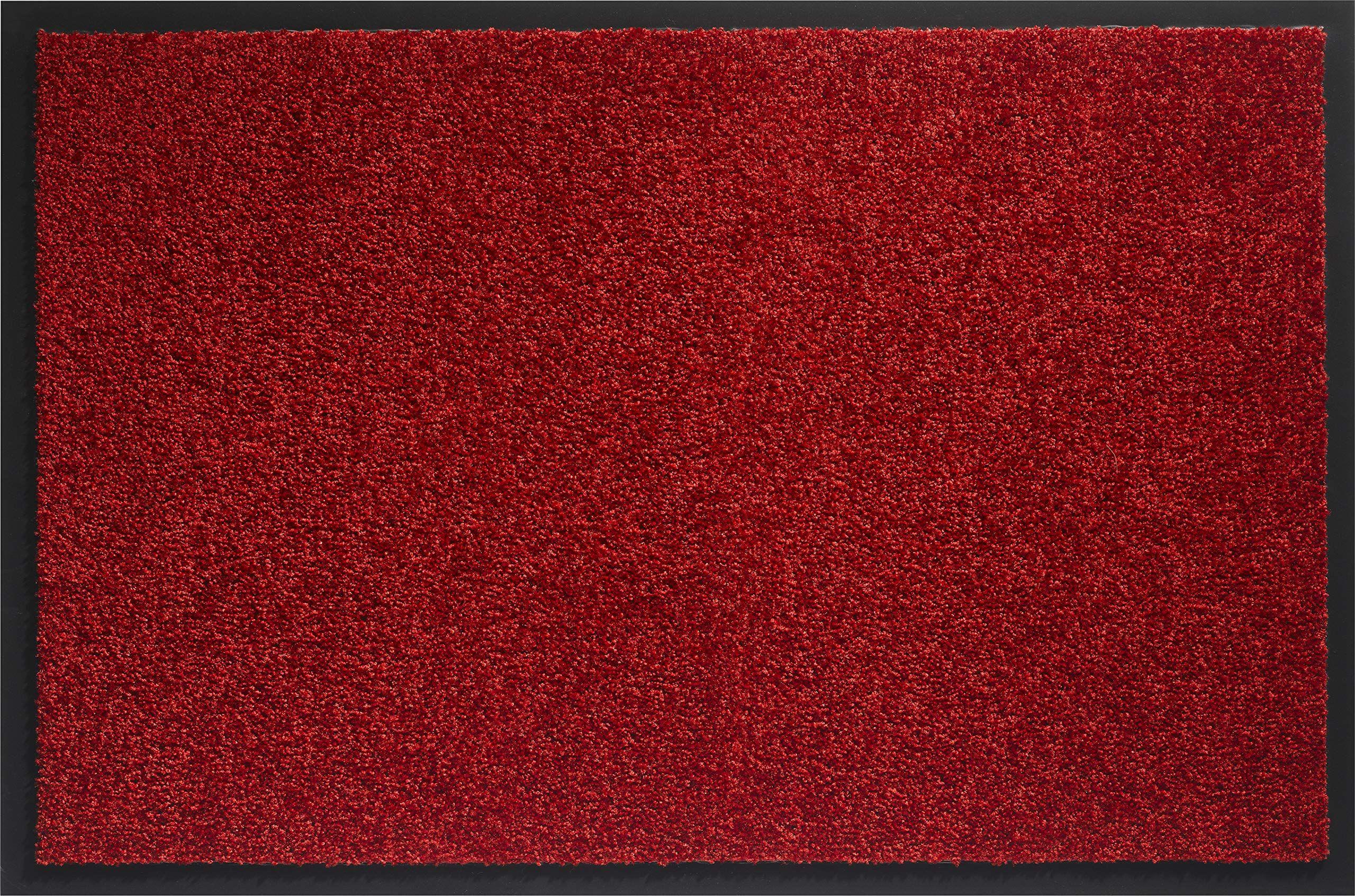 ID mat t 406004 Mirande dywan wycieraczka włókno nylon/PCW gumowany różowo-bordowy 60 x 40 x 0,9 cm