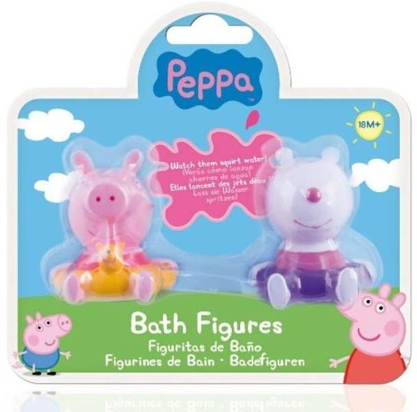 Peppa Pig - Zestaw 2 figurek do kapieli mix