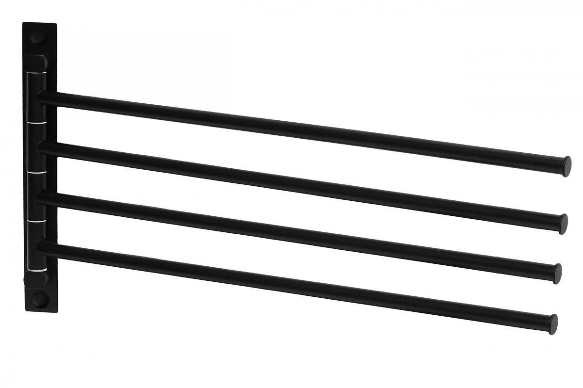 Tutumi Wieszak łazienkowy 4 ramienny na ręczniki czarny