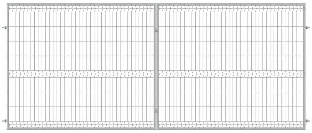 Brama dwuskrzydłowa STARK 400 x 170 cm ocynk POLBRAM