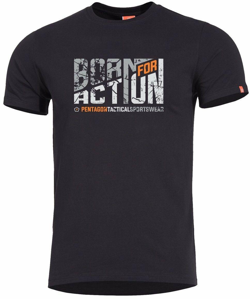 T-shirt Pentagon Ageron Born for Action, Black (K09012-BA-01)
