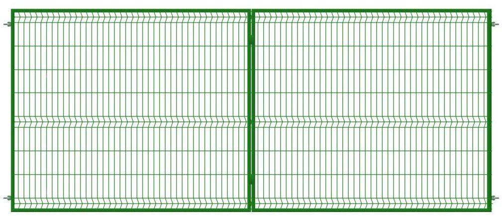 Brama dwuskrzydłowa STARK 400 x 170 cm zielona POLBRAM