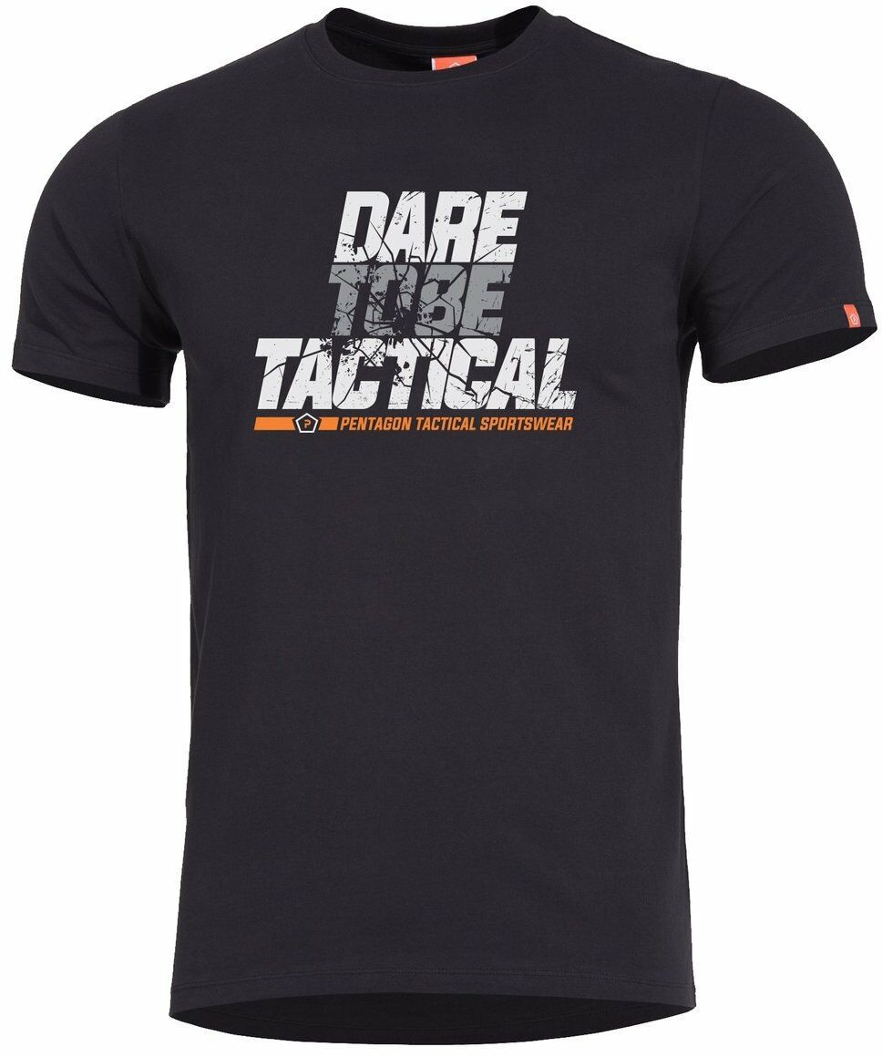 T-shirt Pentagon Ageron Dare to Be Tactical, Black (K09012-DT-01)