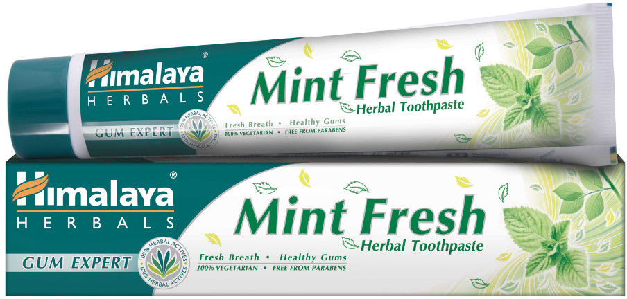 HIMALAYA Herbals Mint Fresh 75ml - ziołowy żel na nieprzyjemny zapach z ust (halitoza)