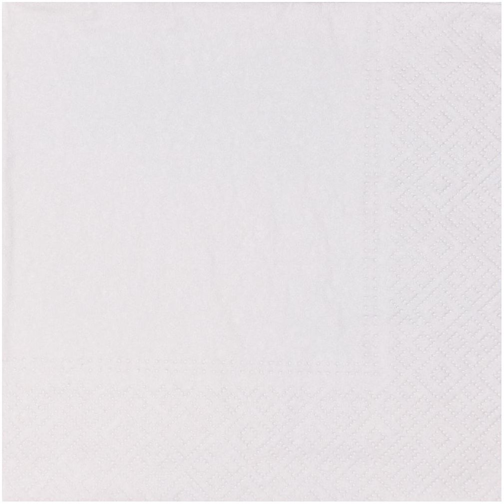 Serwetki Unicolor białe 33 x 33 cm 10 szt.